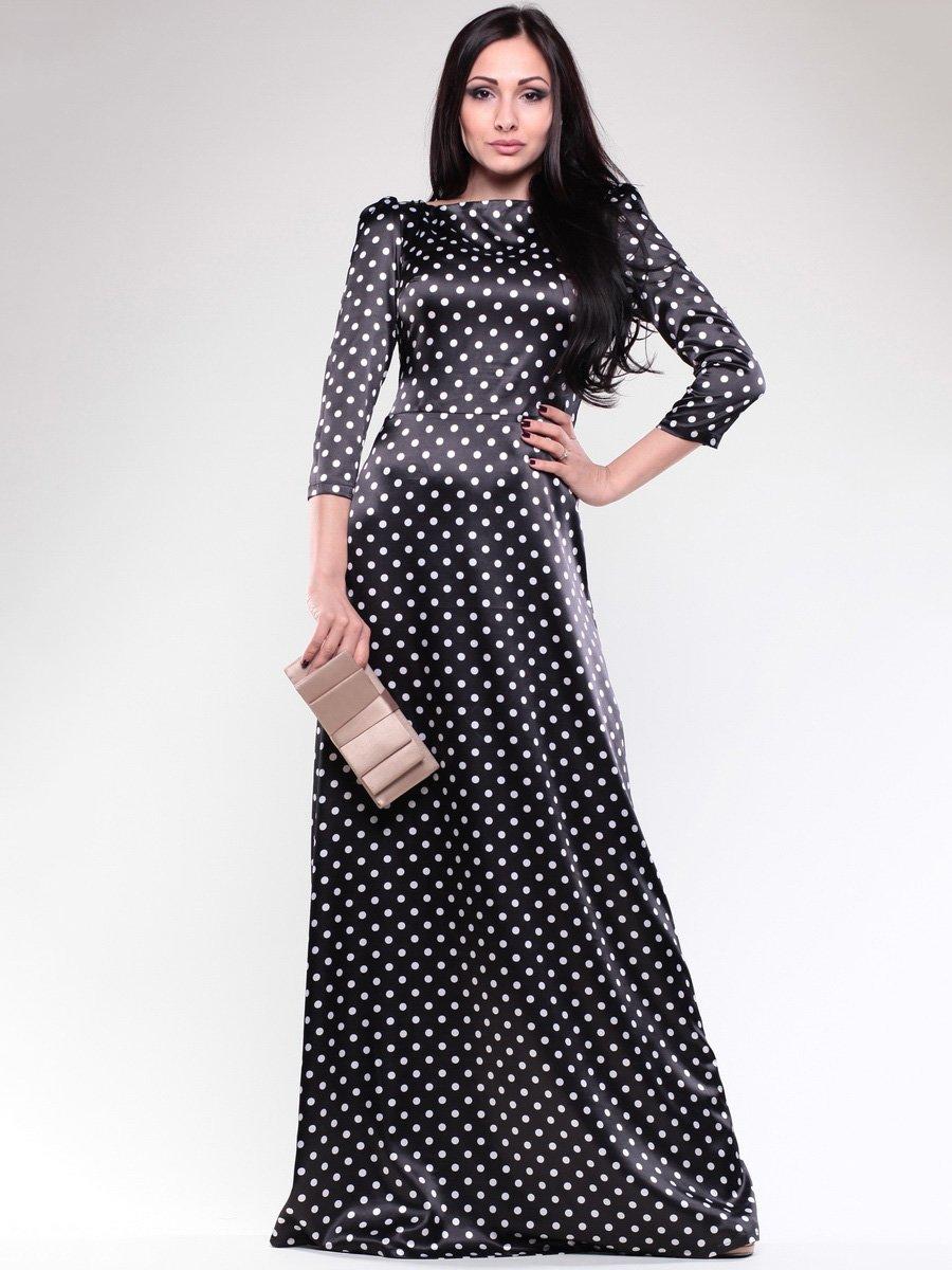 Сукня чорна в білий горох | 1679648