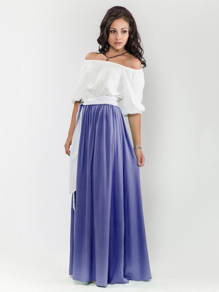 Платье бело-синее   1682711