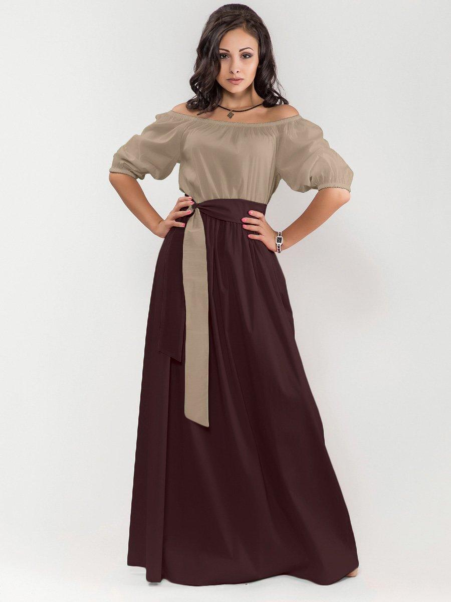 Платье цвета мокко с шоколадом | 1717256