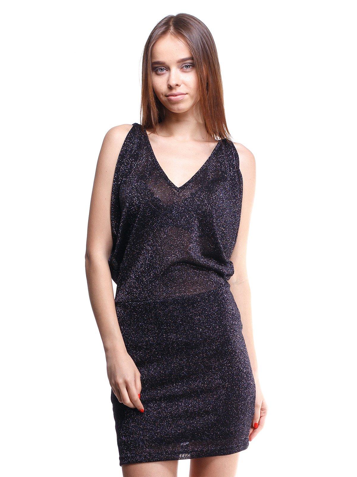 Сукня чорна з люрексом | 1443486