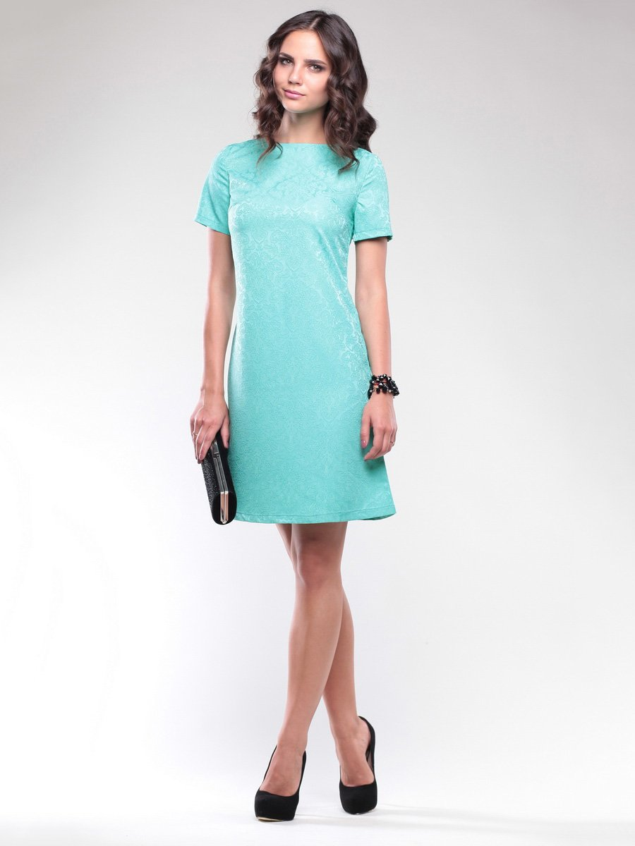 Сукня бірюзова в візерунок   1734362