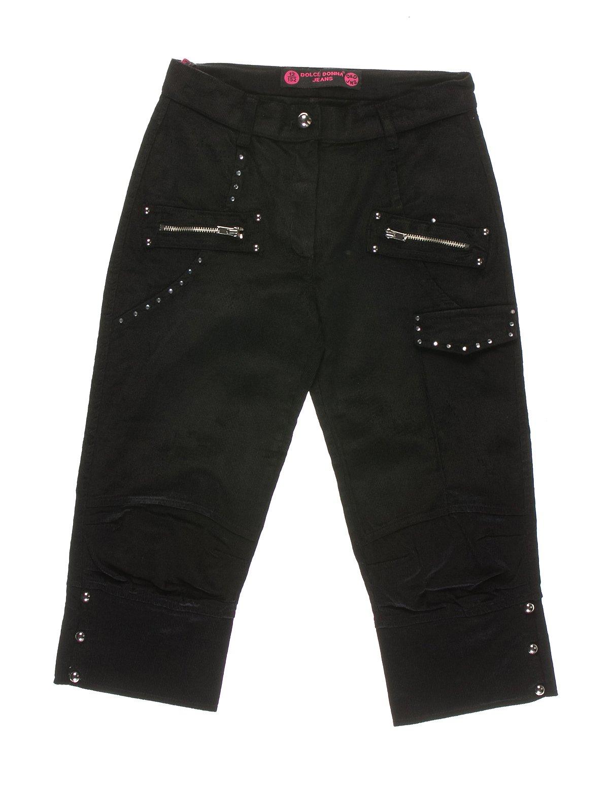Штаны черные вельветовые | 1601090