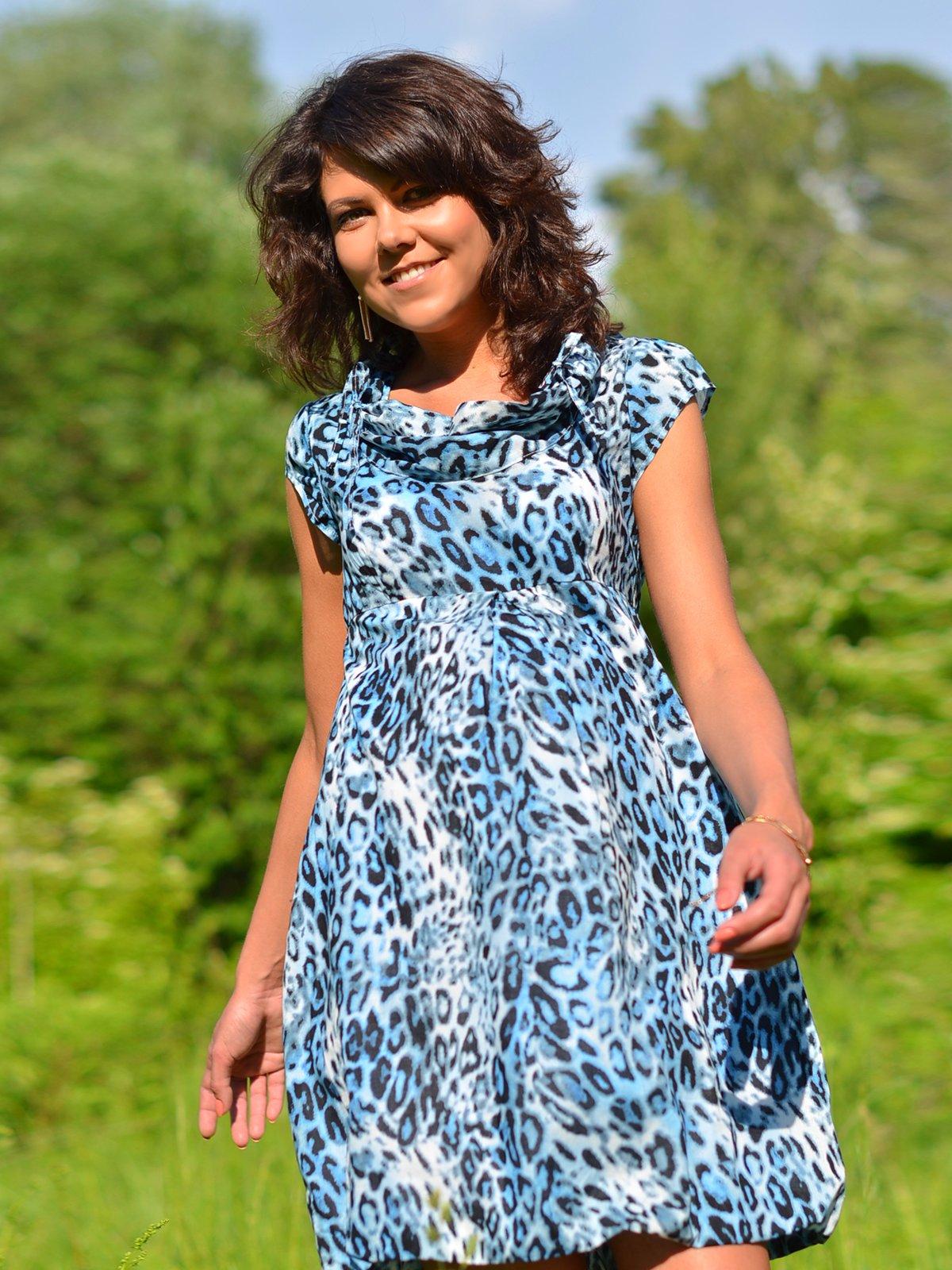Сукня анімалістичного забарвлення | 1734161