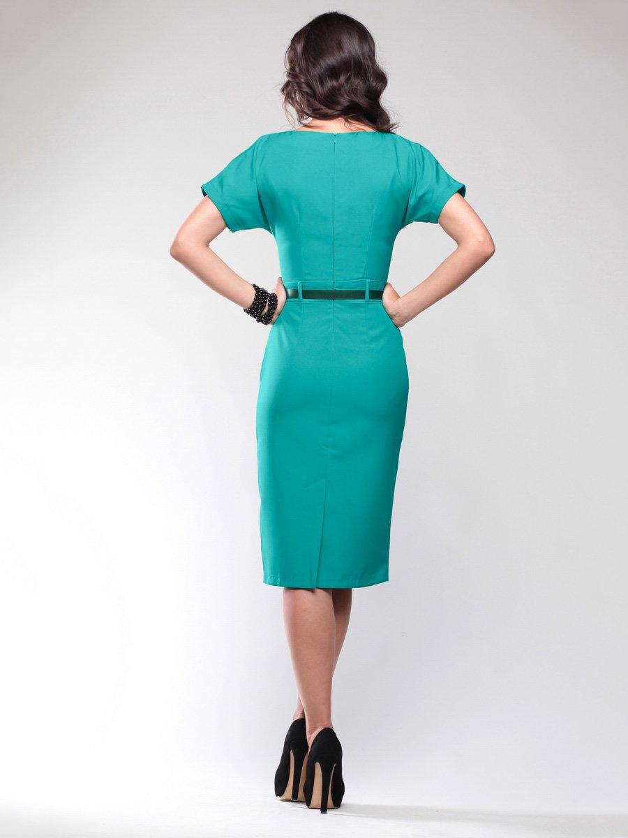 Платье темно-ментолового цвета | 1734399 | фото 2