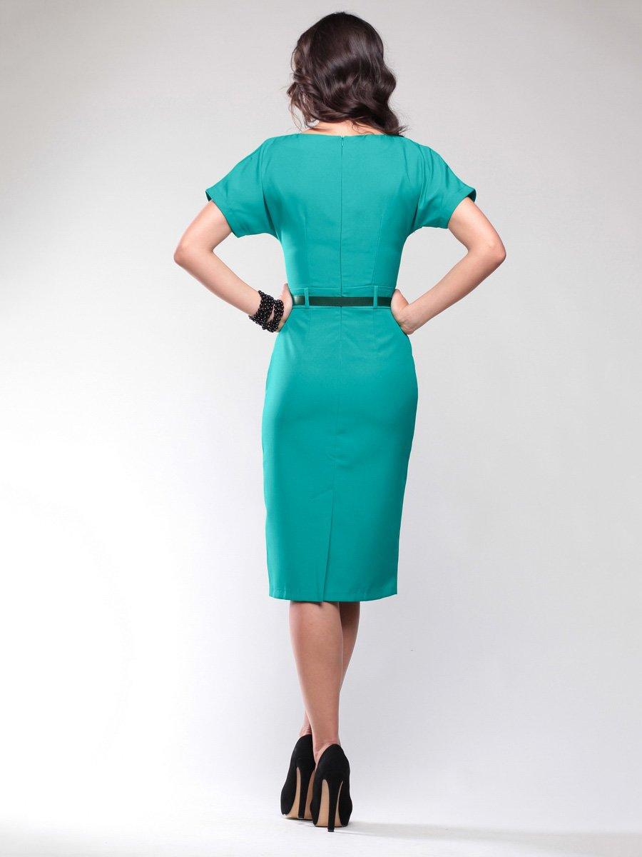 Платье темно-ментолового цвета | 1734399 | фото 4