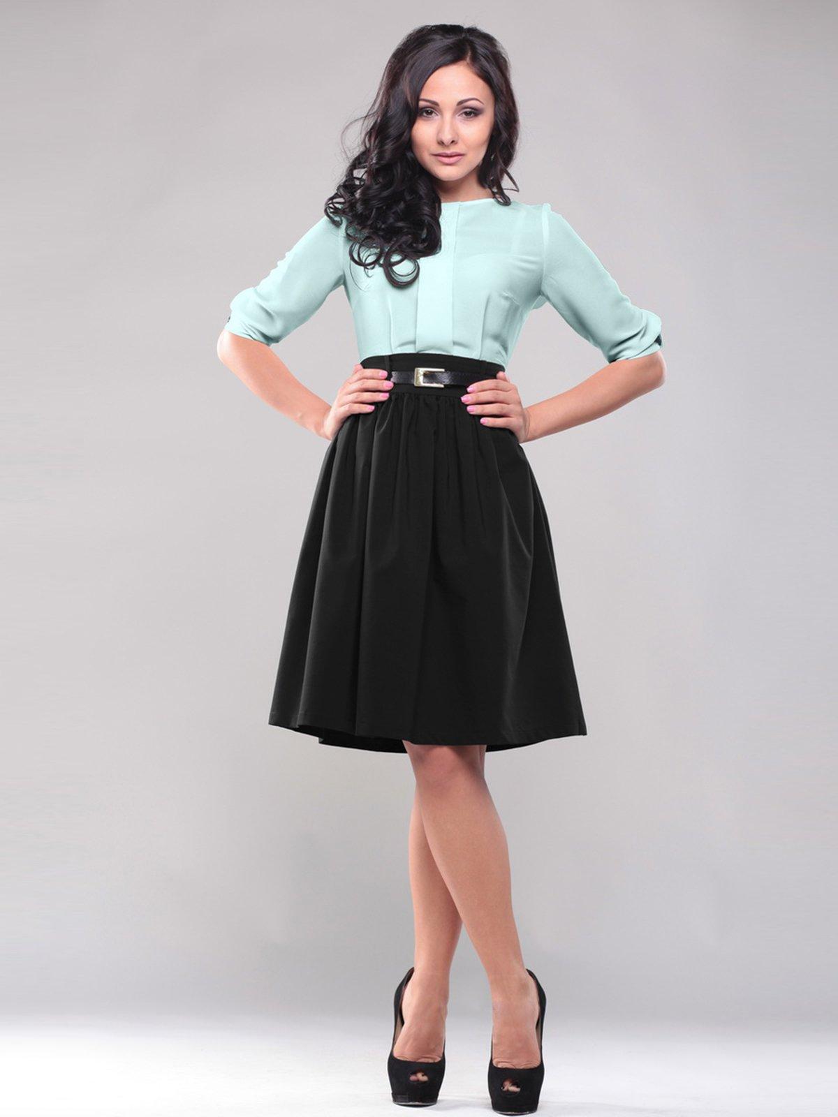 Сукня чорно-м'ятного кольору | 1741461
