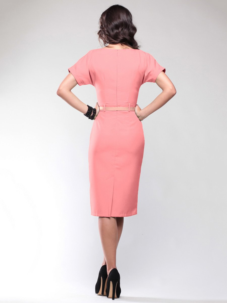 Платье темно-персикового цвета | 1746789 | фото 2