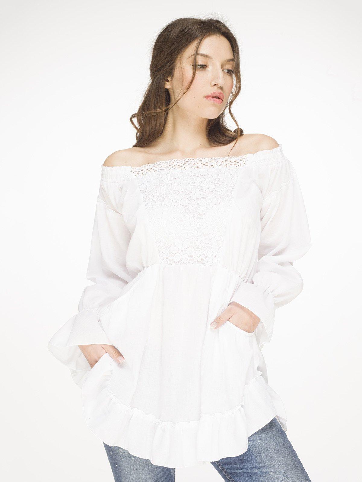 ad996f4378a Туника белая с кружевом — Arefeva