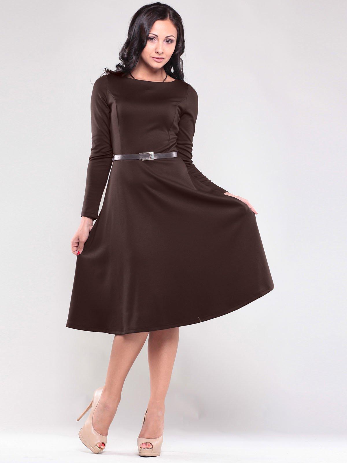 Платье шоколадного цвета   1763010