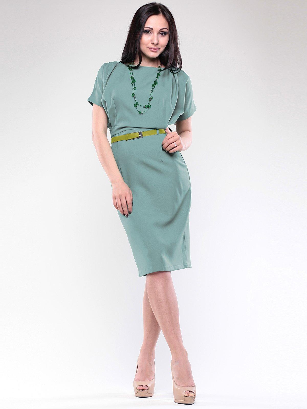 Платье оливкового цвета | 1771485