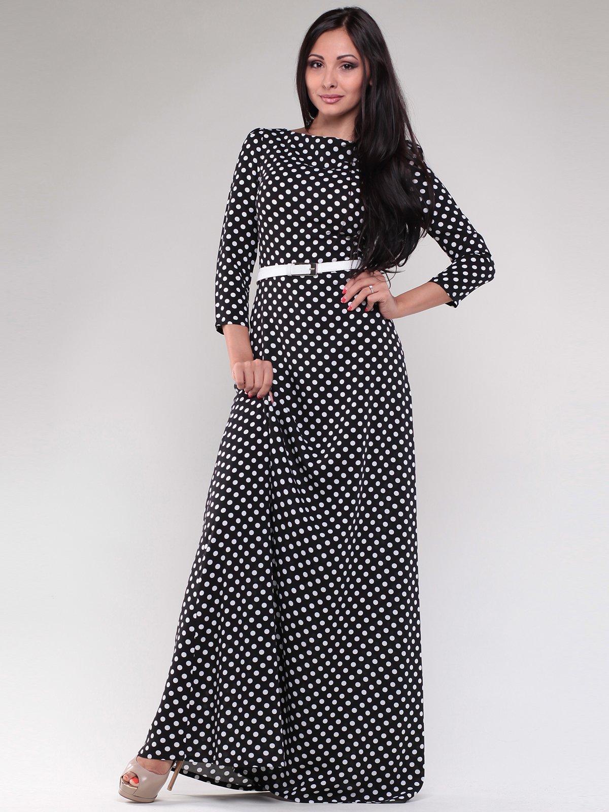 Сукня чорна в горох | 1780710