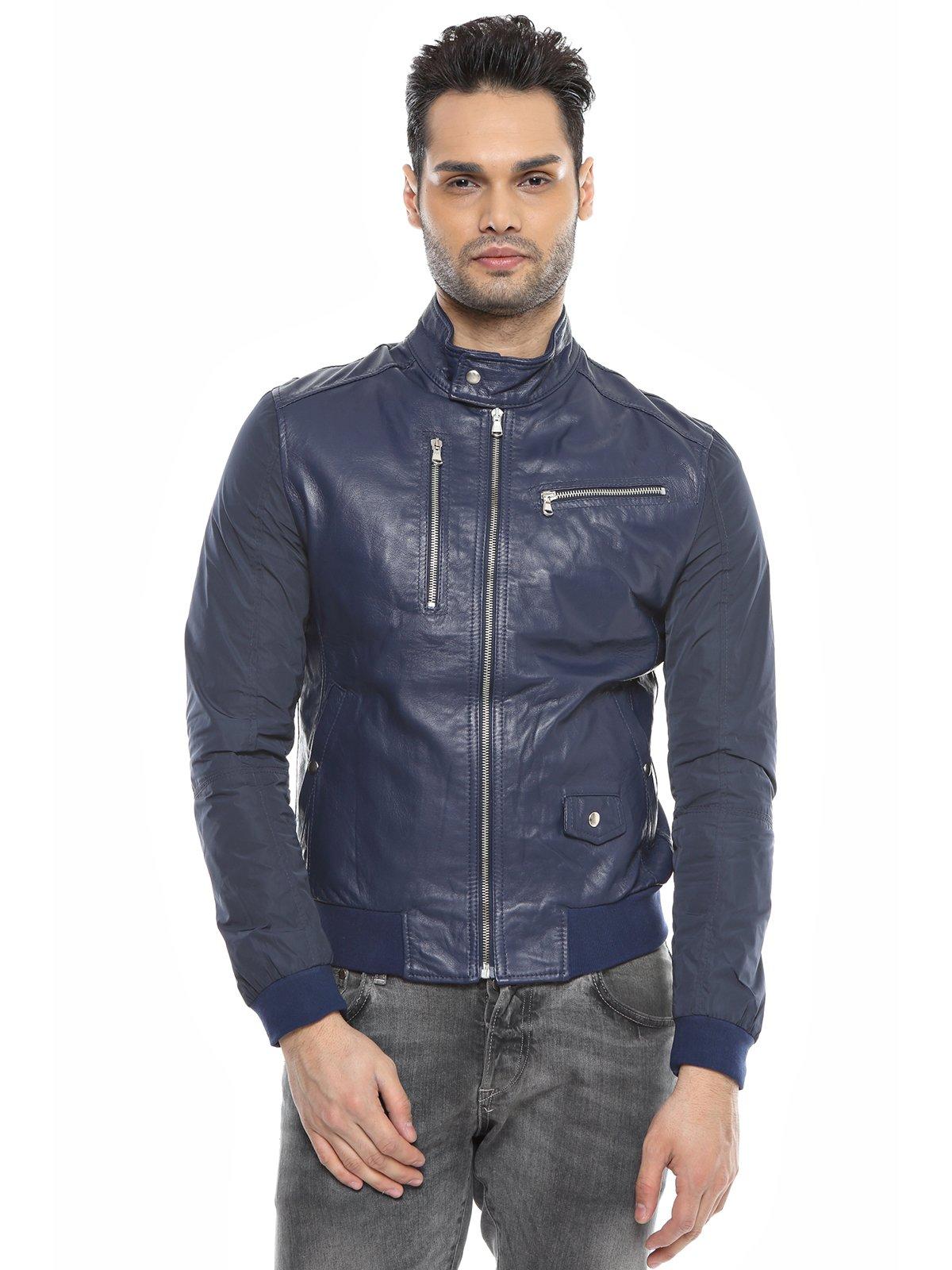 Куртка темно-синяя комбинированная | 1576411