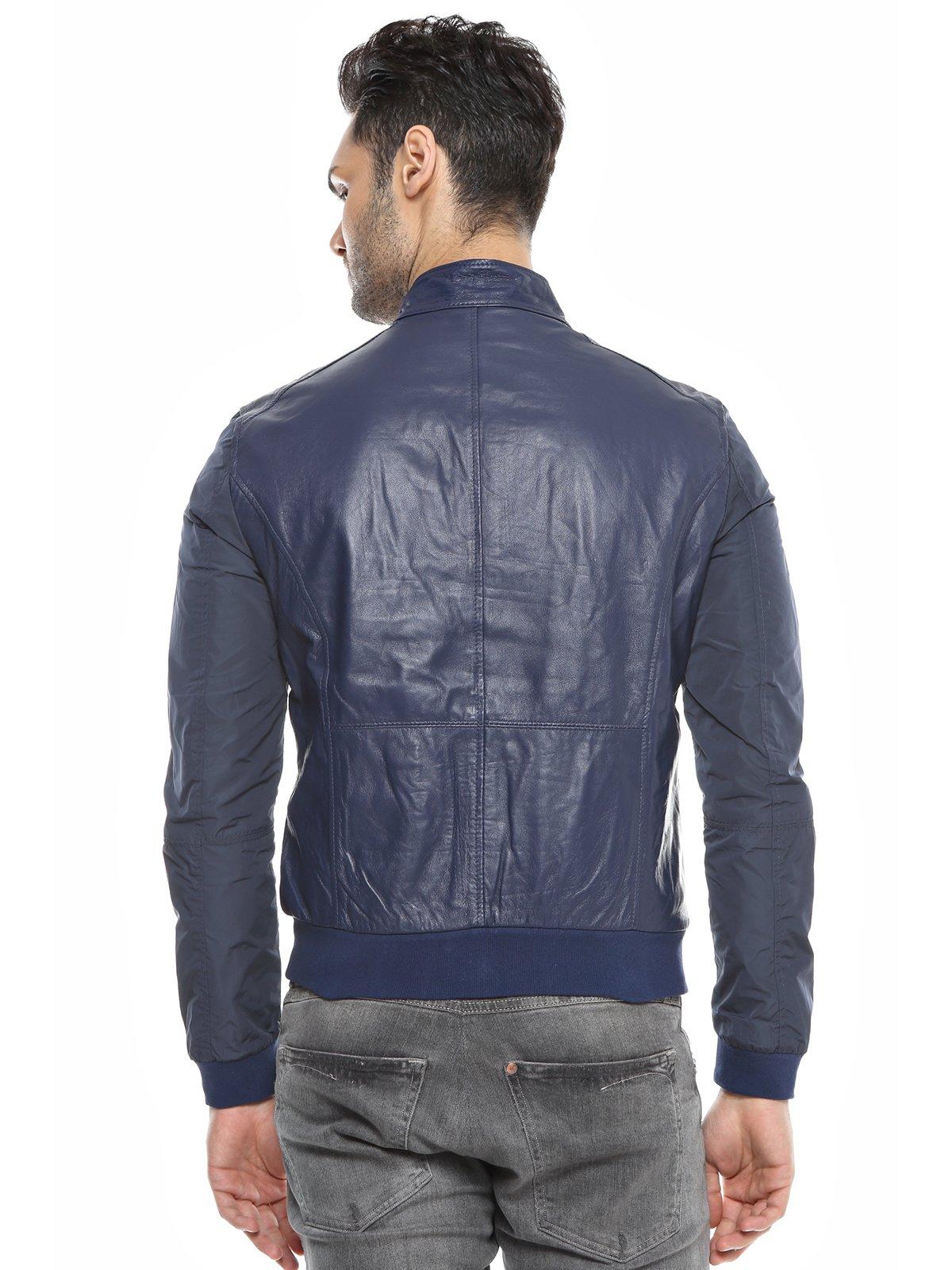 Куртка темно-синяя комбинированная | 1576411 | фото 3