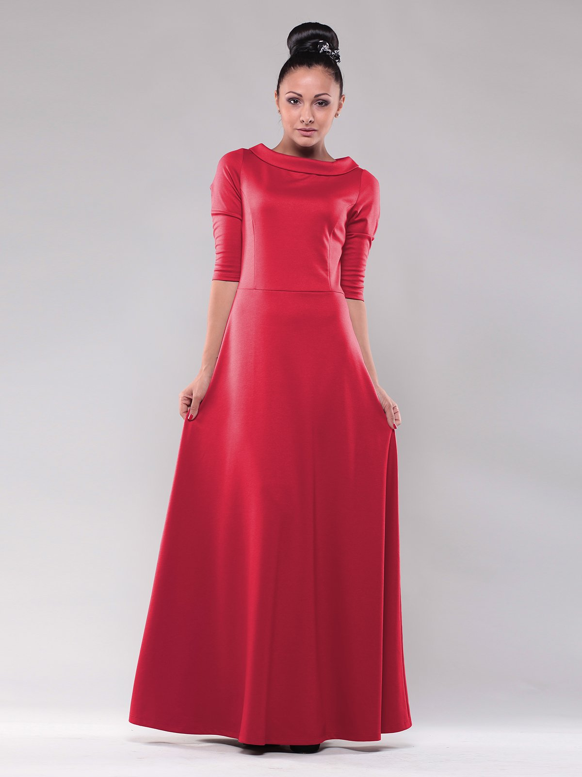 Сукня насичено-червоного кольору | 1798983