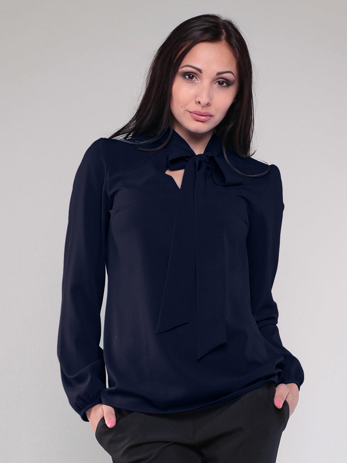 Блуза темно-синяя | 1801186