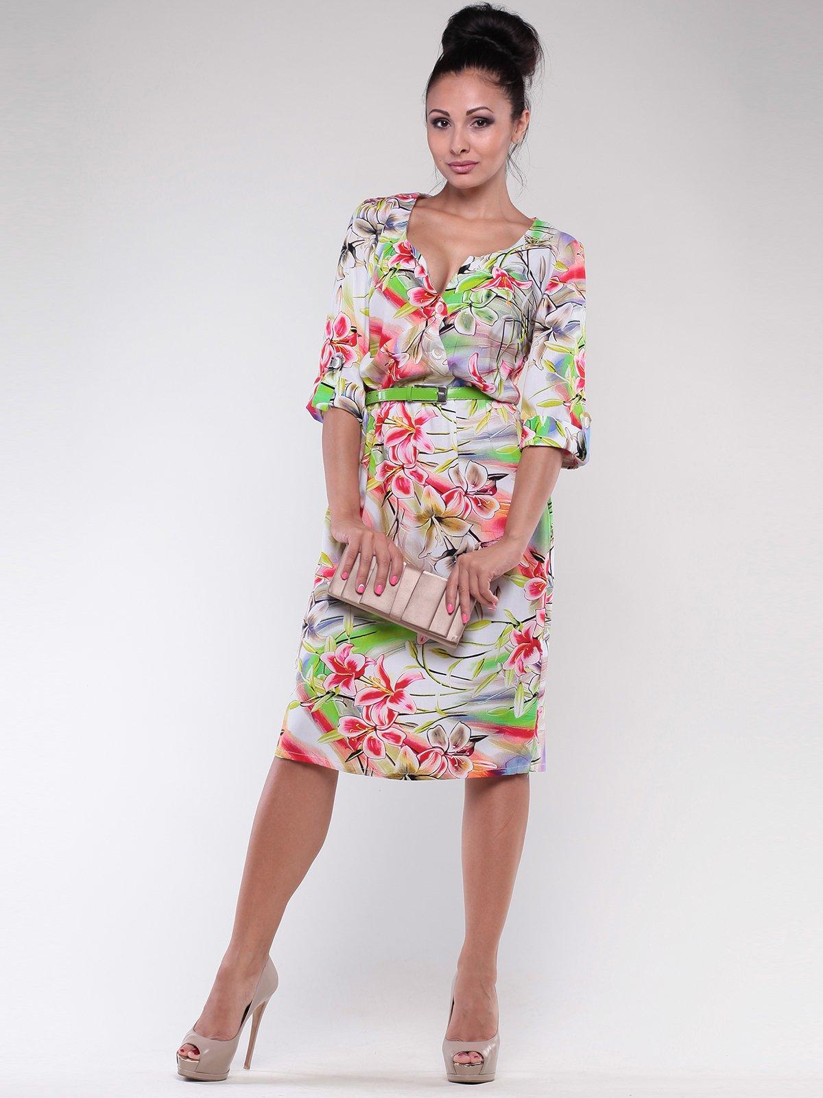 Сукня в квітковий принт | 1801292