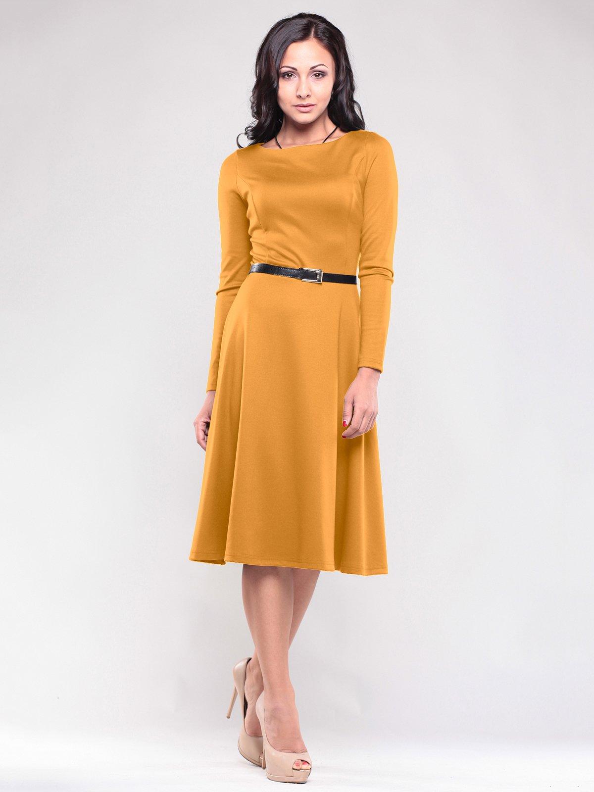 Платье цвета горчицы | 1717008