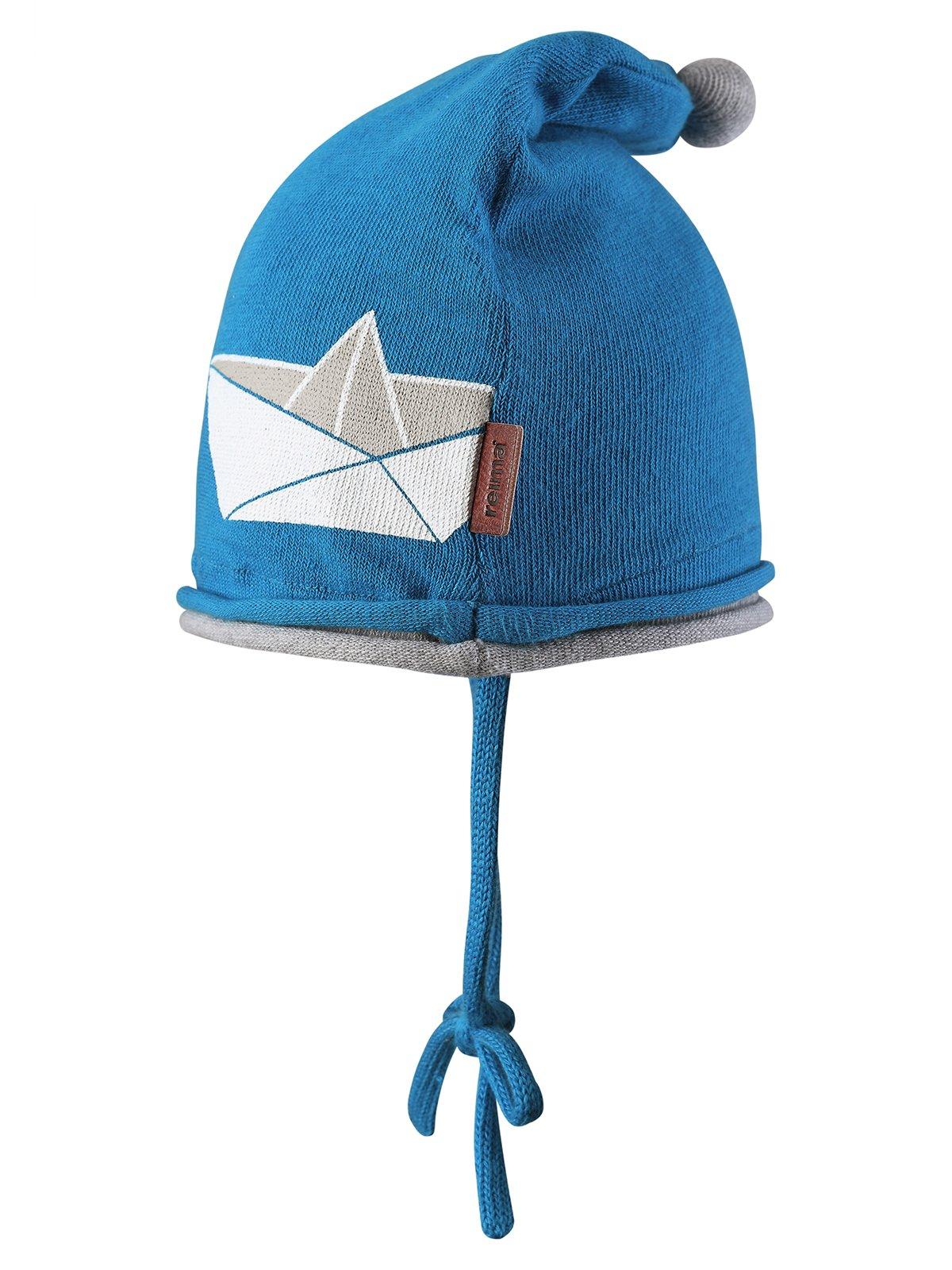 Шапка синя з принтом   1566710   фото 3