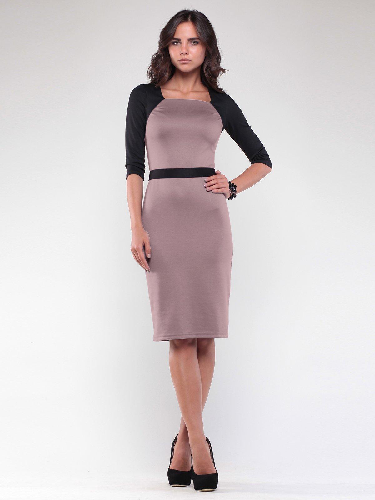 Платье цвета светлый мокко | 1806449