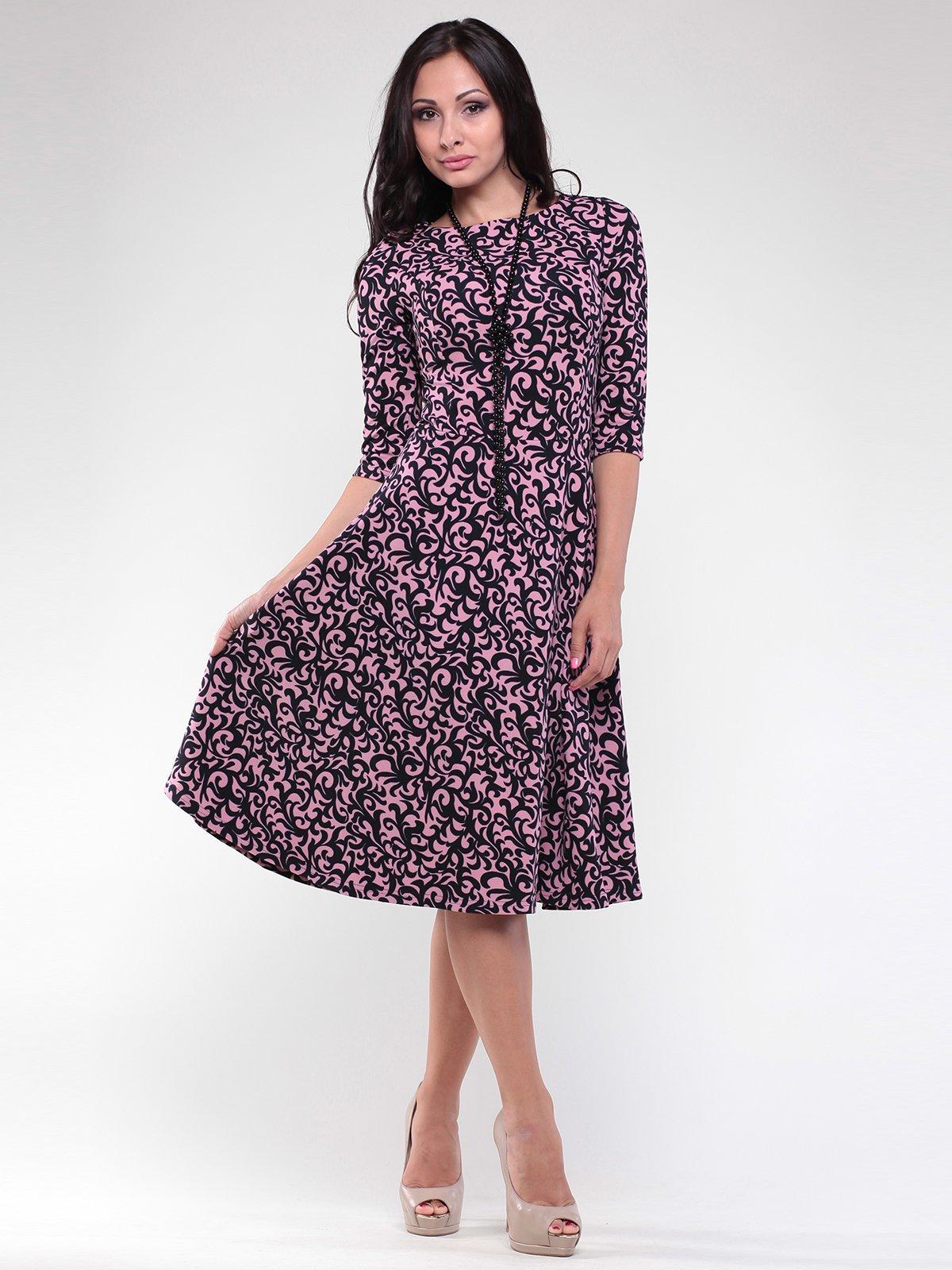Сукня рожева у візерунок | 1806469