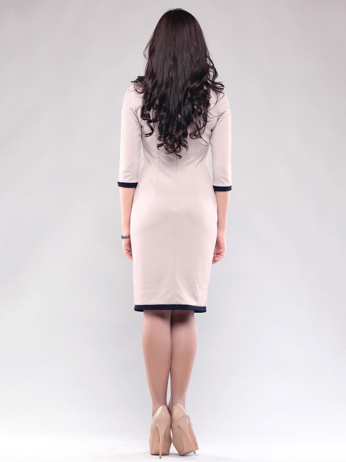 Платье бежево-синего цвета | 1815712 | фото 2