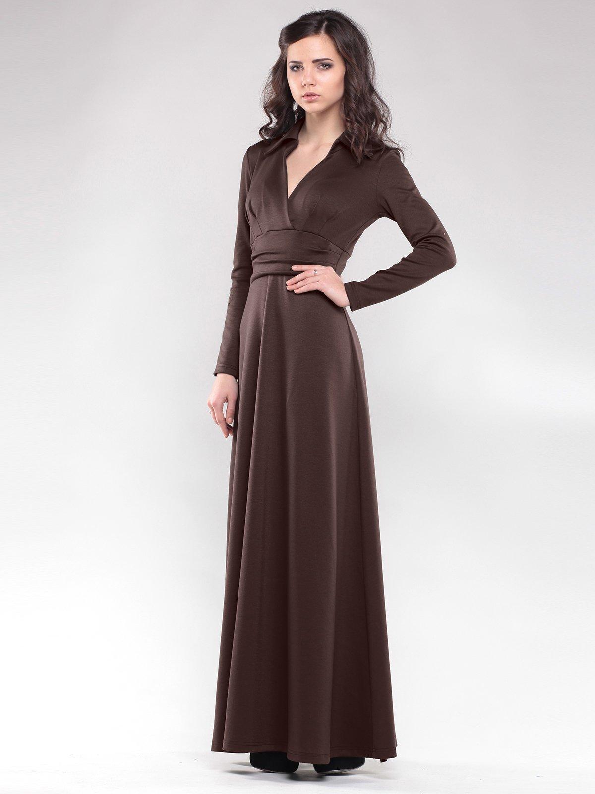 Платье цвета шоколад | 1822288