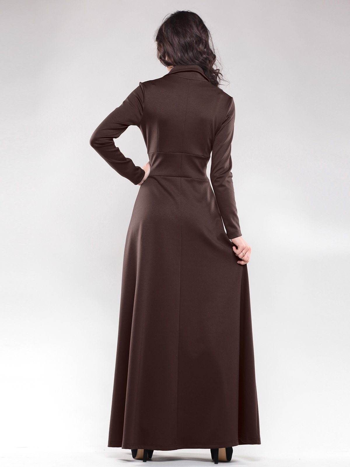 Платье цвета шоколад | 1822288 | фото 2