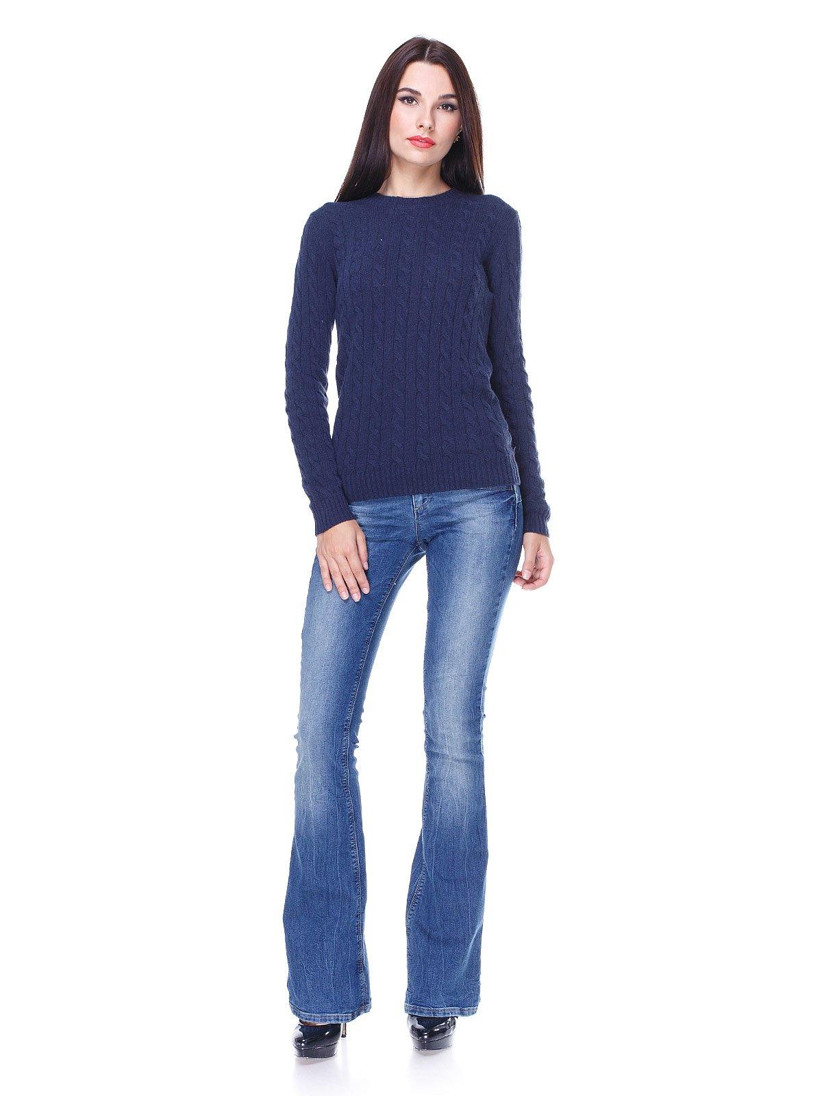 Джинси сині з ефектом потертих   1829632