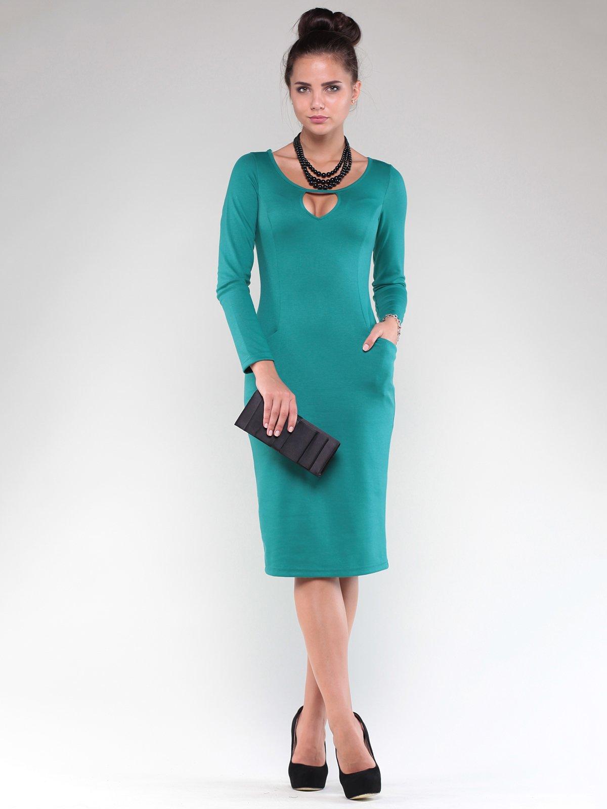 Сукня темно-смарагдового кольору | 1832216