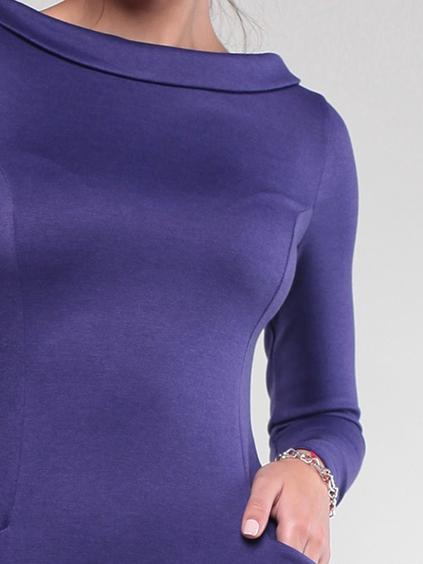 Платье темно-фиолетовое | 1832230 | фото 3