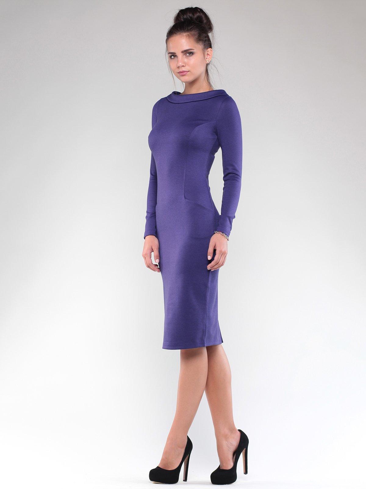 Платье темно-фиолетовое | 1832230 | фото 4