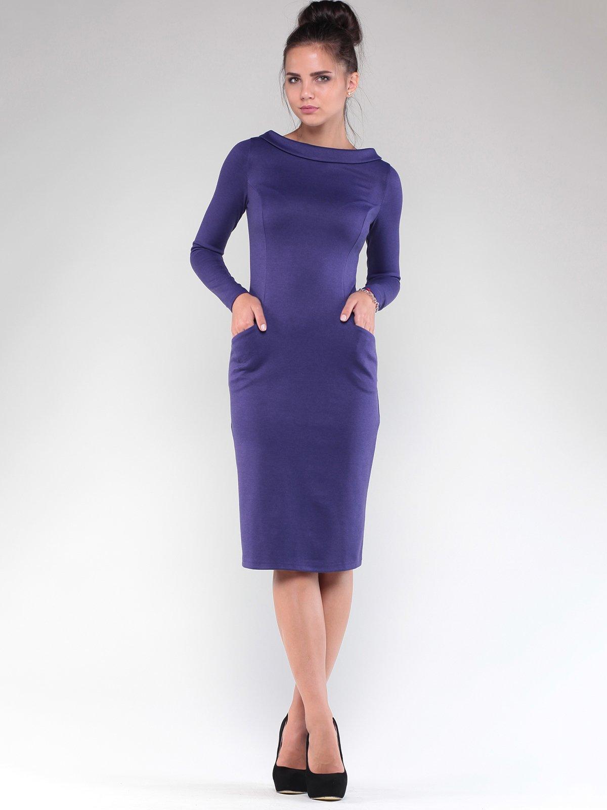 Платье темно-фиолетовое | 1832230 | фото 5