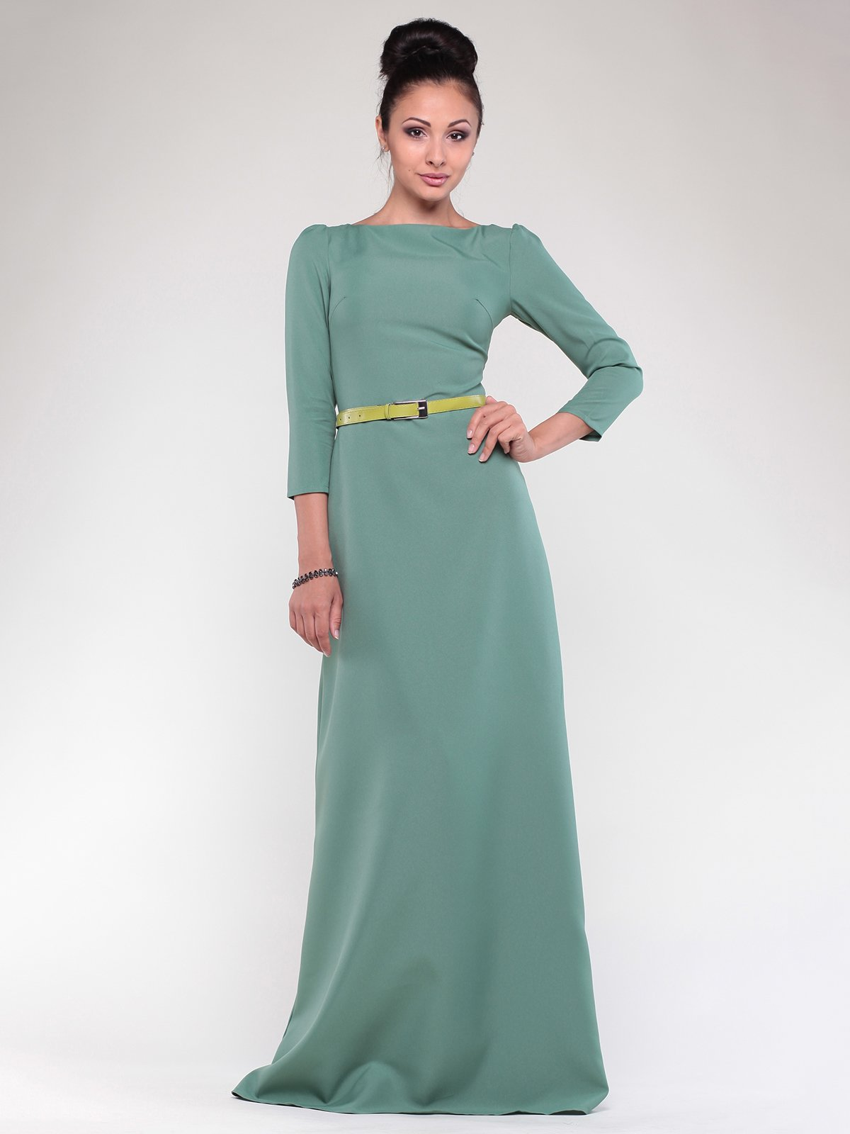 Платье оливкового цвета | 1832259