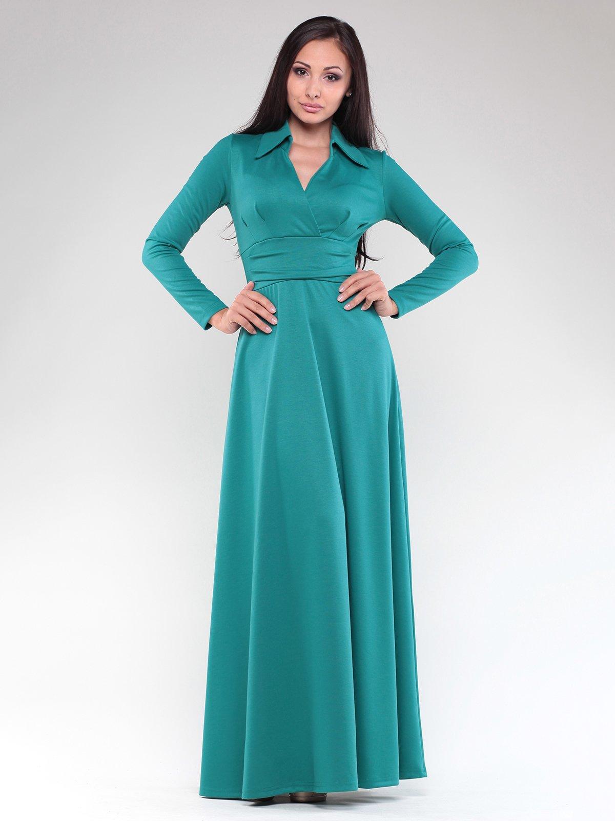Сукня темно-смарагдового кольору | 1822289