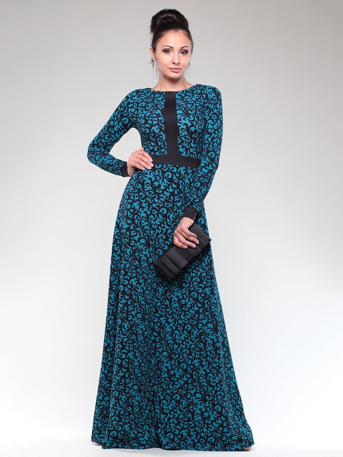 Платье двухцветное в узор | 1832292
