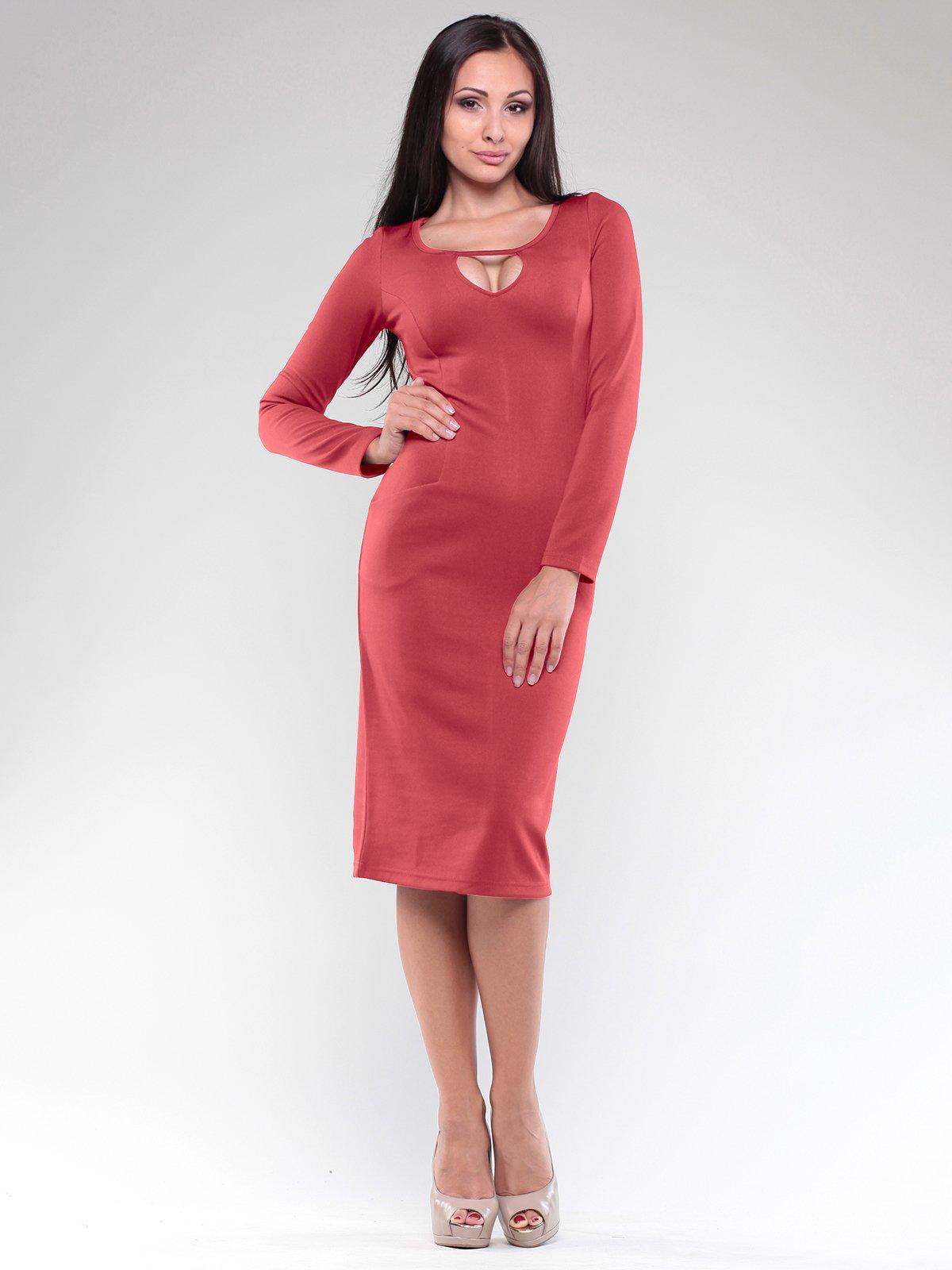 Платье терракотовое | 1832210