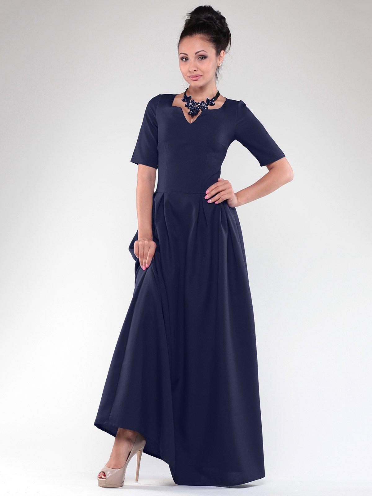 Платье темно-синее | 1832183