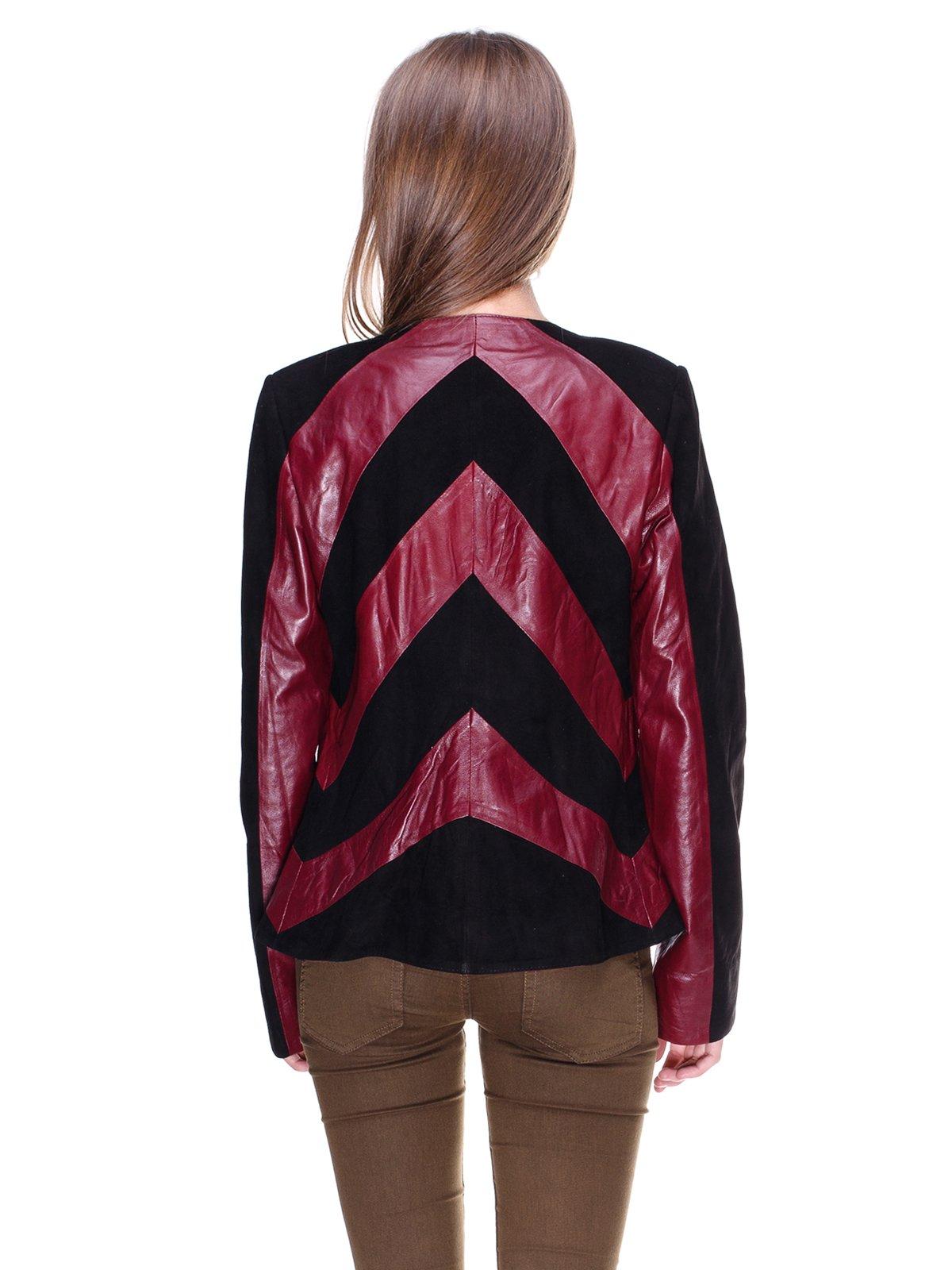 Куртка бордово-чорна комбінована | 1830304 | фото 2