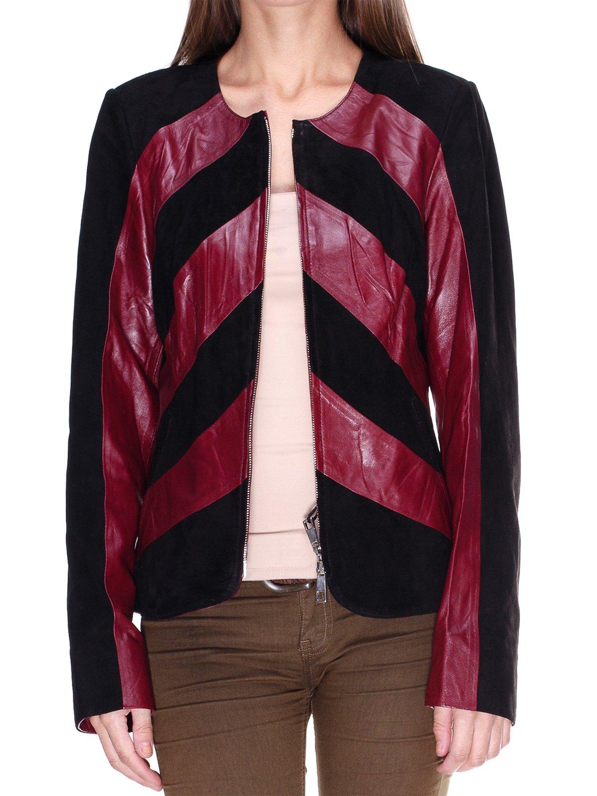 Куртка бордово-чорна комбінована | 1830304 | фото 3