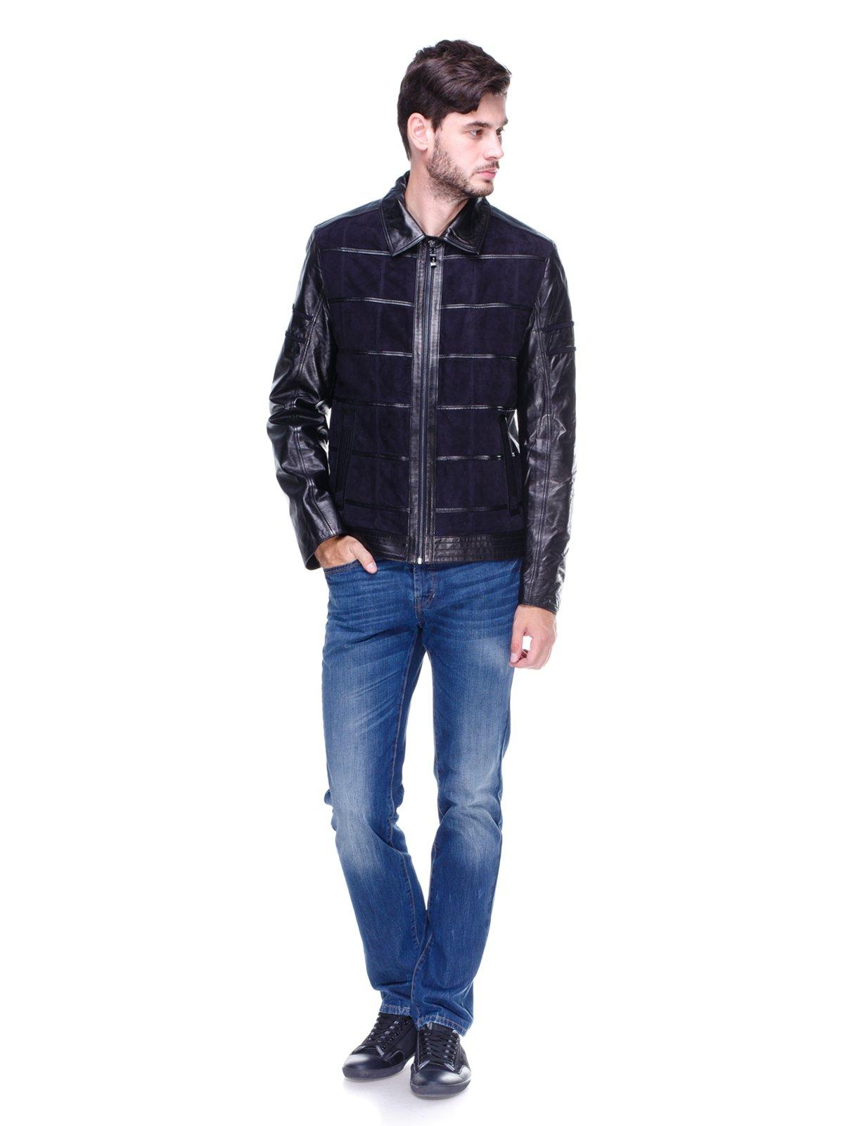 Куртка чорно-синя   1830326   фото 4