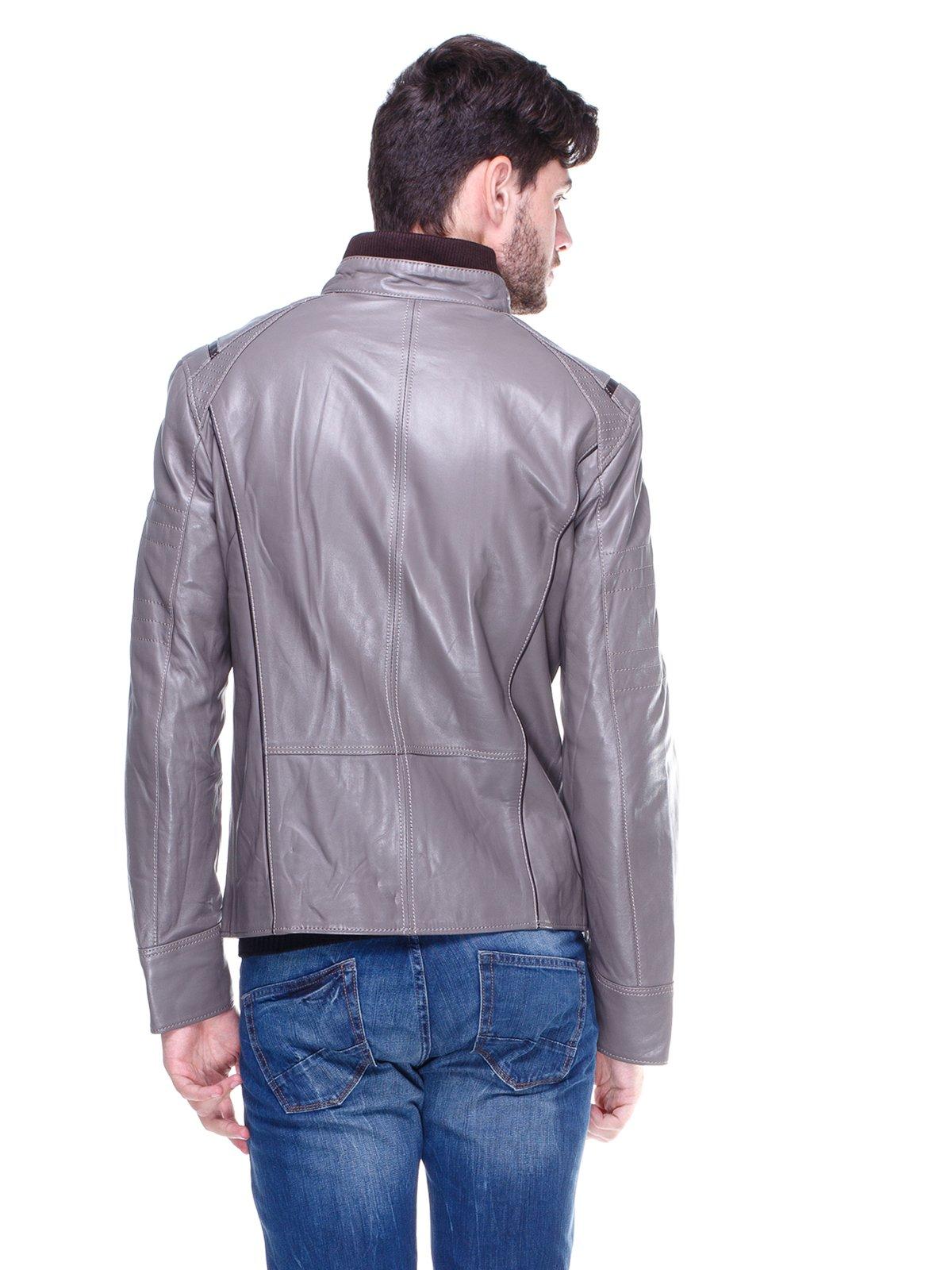 Куртка сіра з контрастним оздобленням і люверсами | 1830342 | фото 2