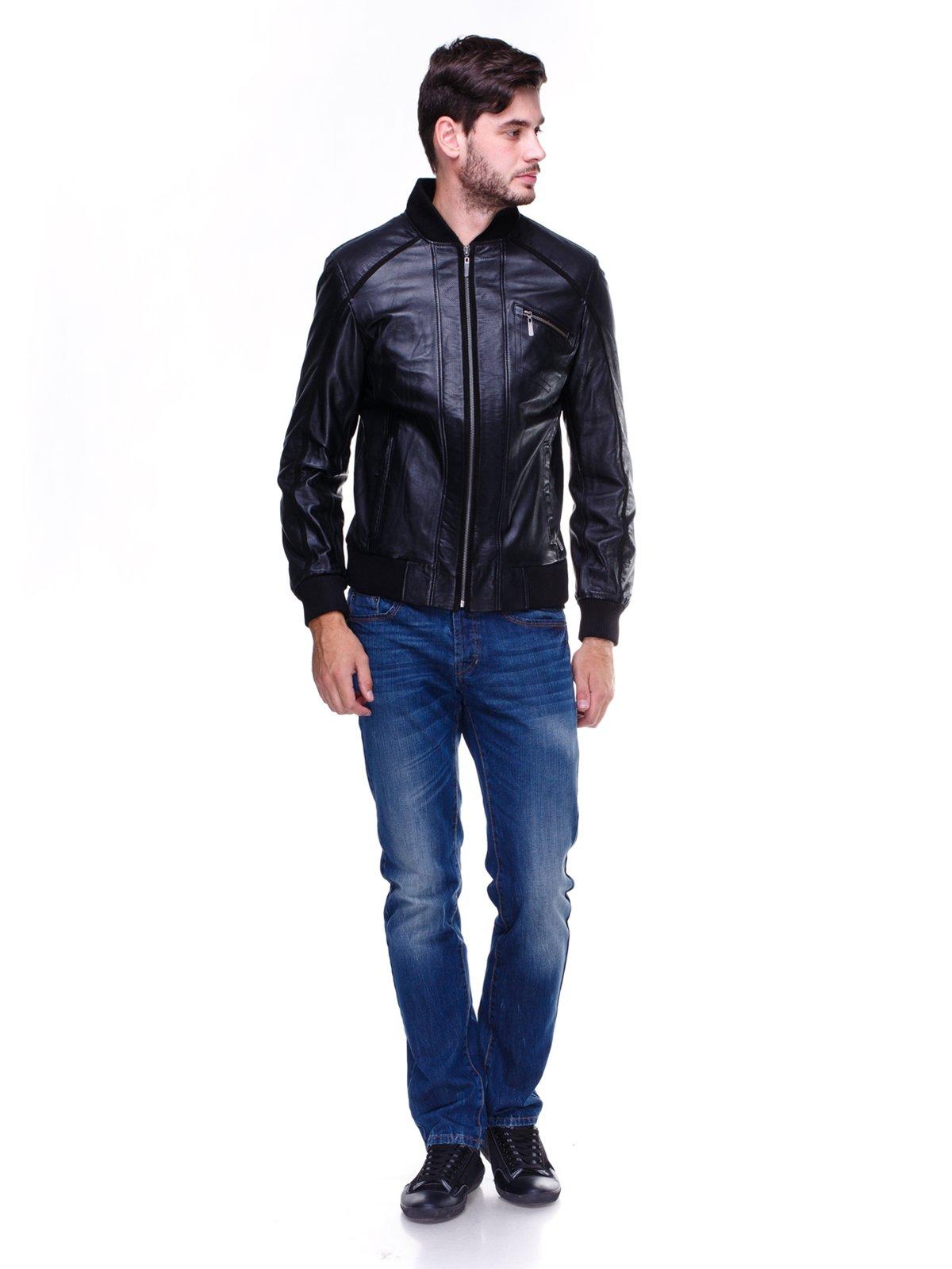 Куртка чорна з перфорацією | 1830332 | фото 4