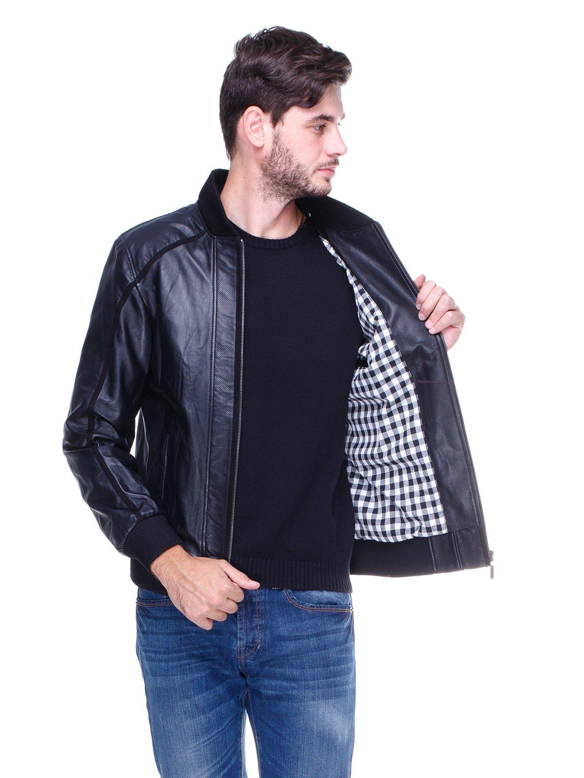 Куртка чорна з перфорацією | 1830332 | фото 5