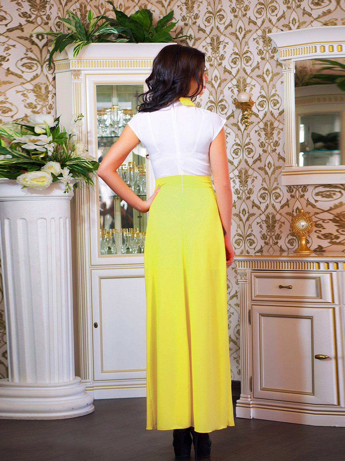 Сукня біло-жовта з квіткою | 1693853 | фото 3