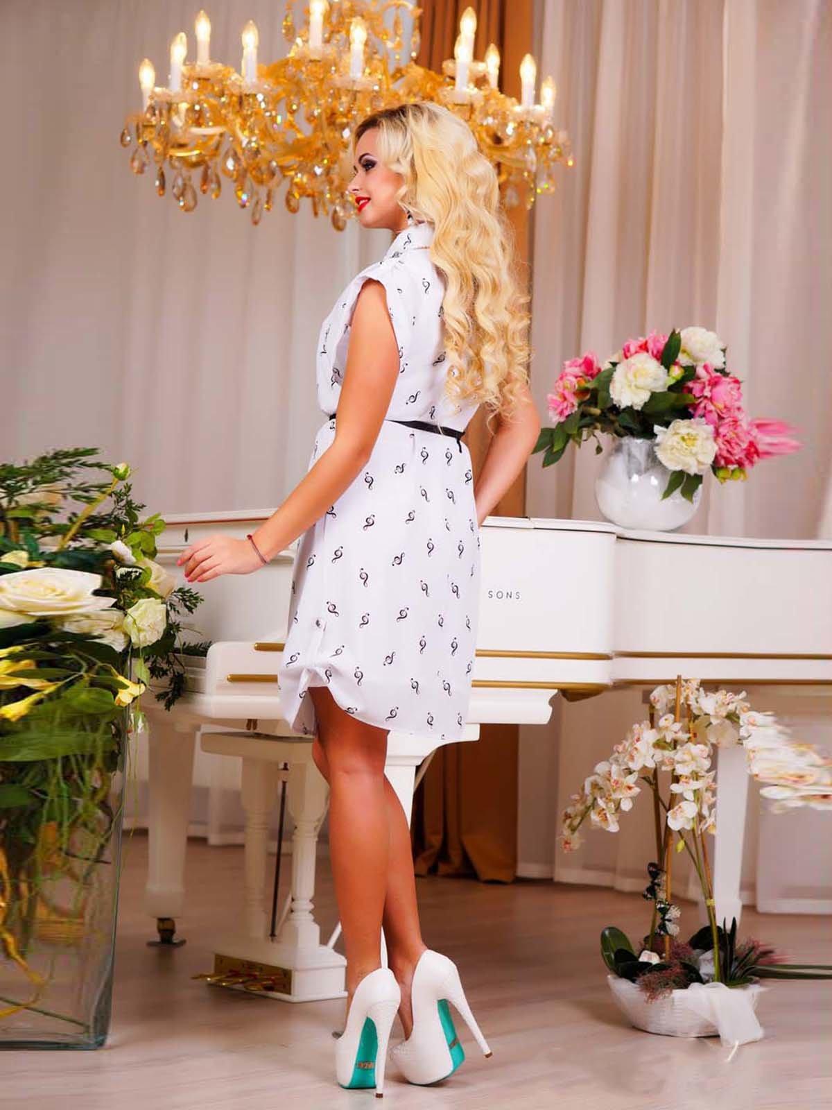 Сукня біла в принт | 1749162 | фото 3