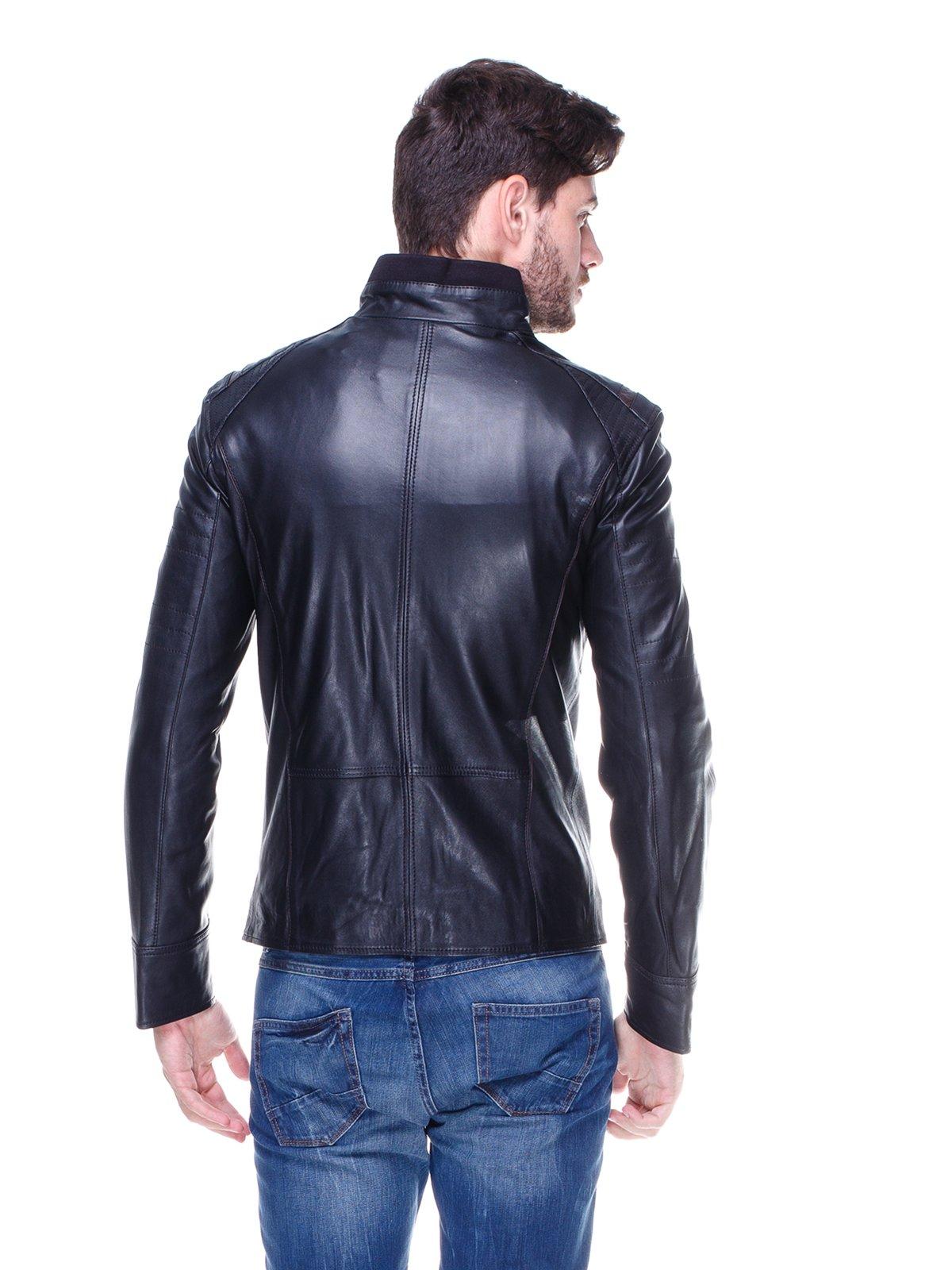 Куртка чорна з контрастним оздобленням і люверсами | 1830340 | фото 2