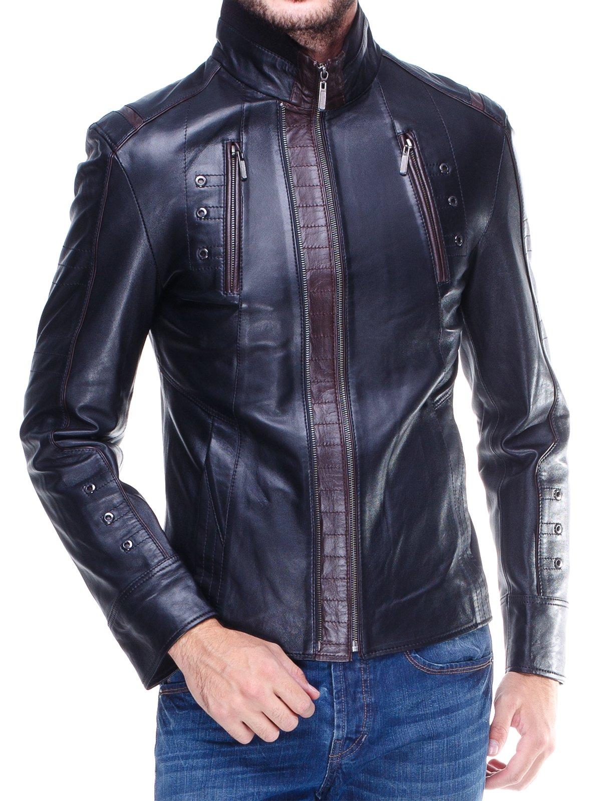 Куртка чорна з контрастним оздобленням і люверсами | 1830340 | фото 3