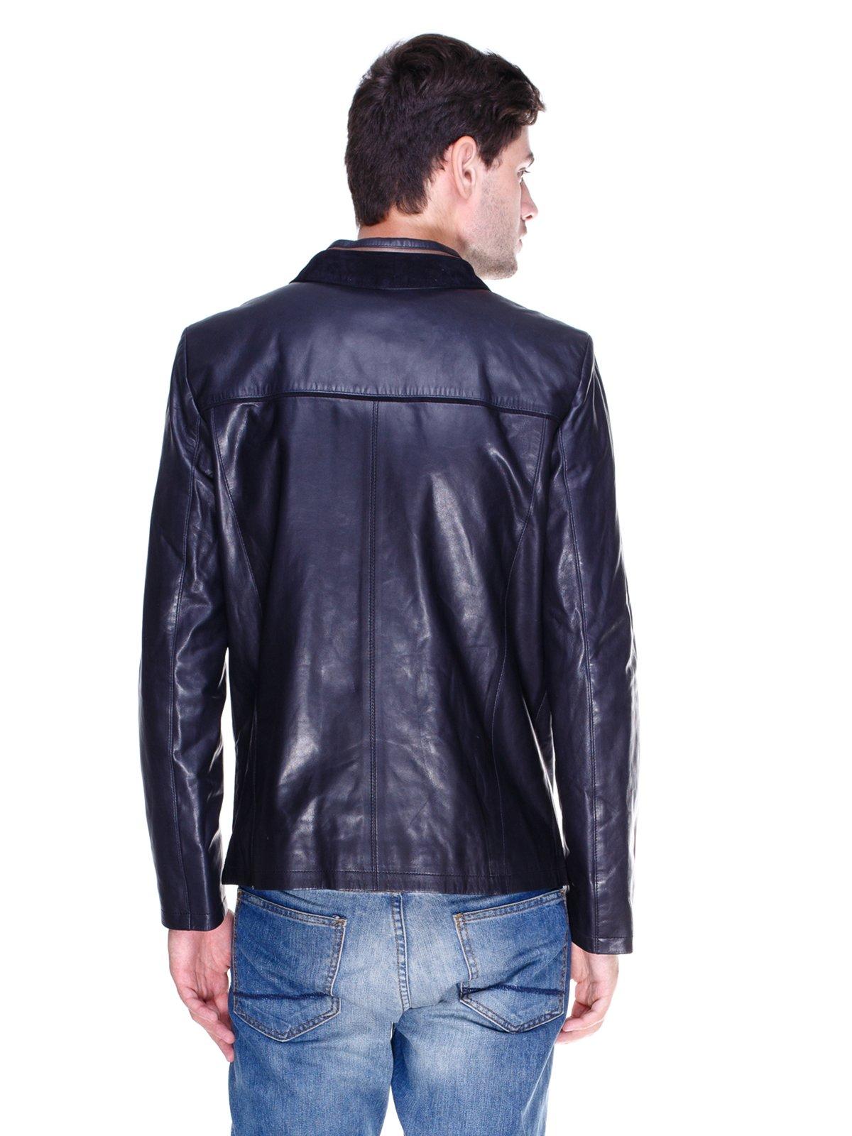 Куртка темно-синя з контрастним оздобленням | 1833609 | фото 2