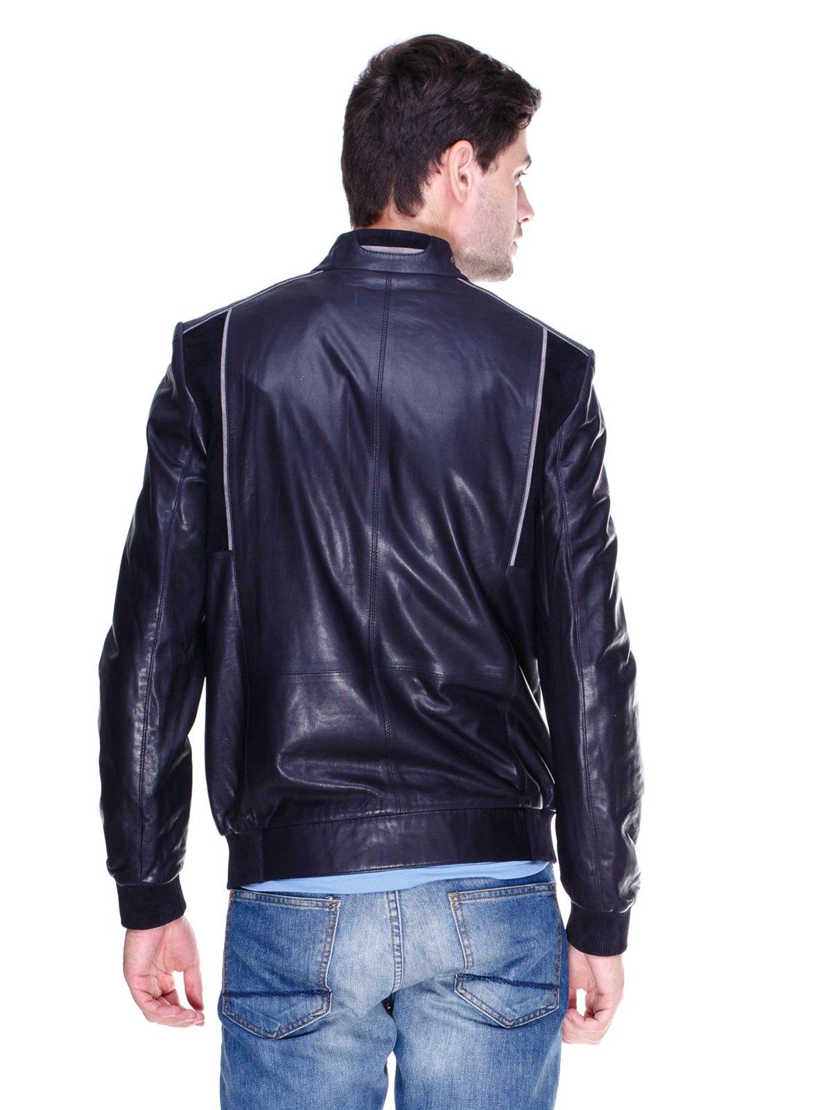 Куртка темно-синя з контрастним оздобленням | 1833610 | фото 2