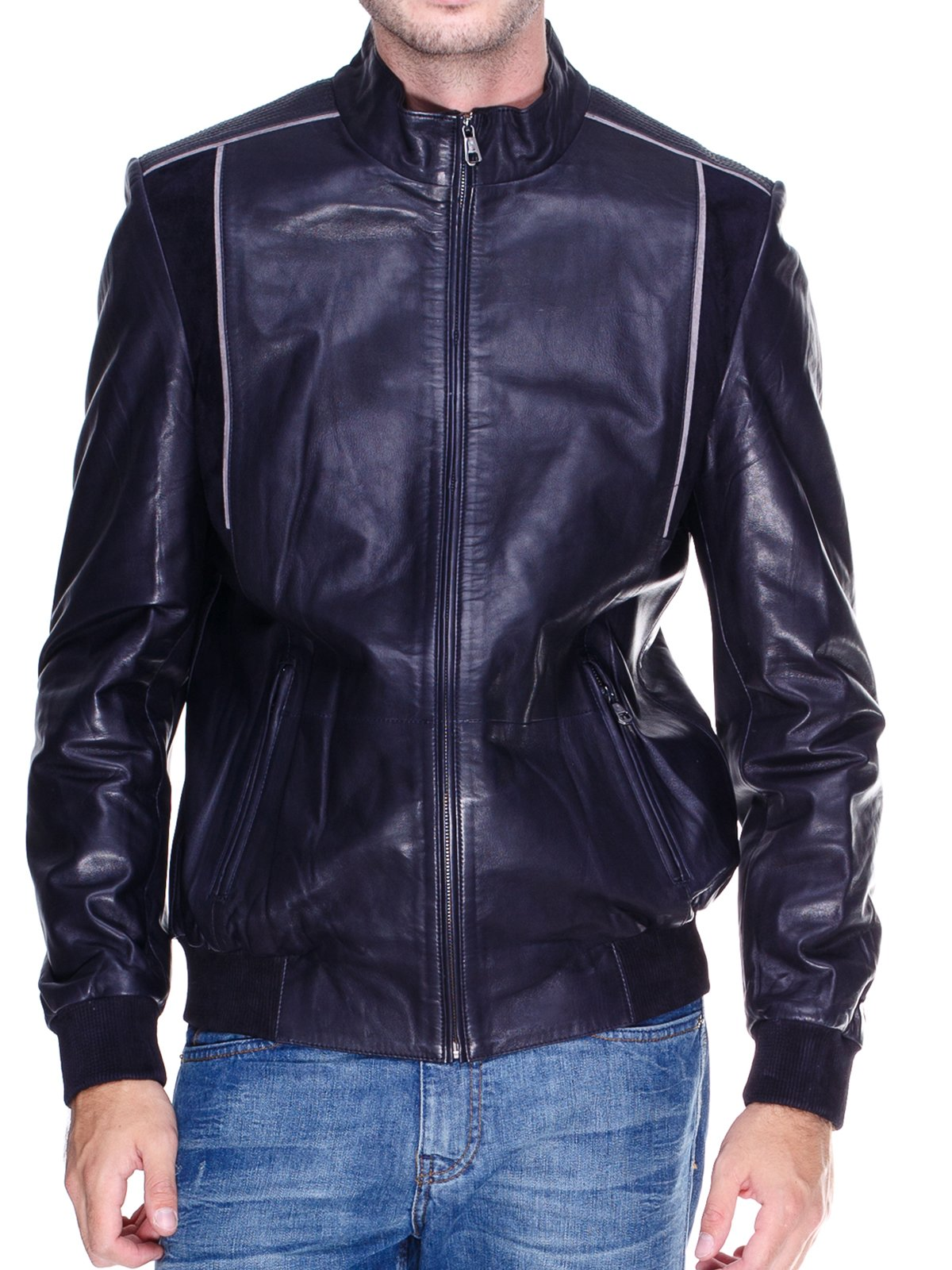 Куртка темно-синя з контрастним оздобленням | 1833610 | фото 3